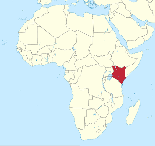 map africa showing kenya